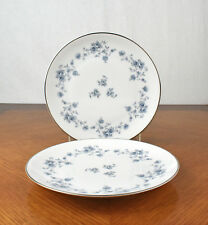 Pair of Vintage Johann Haviland Bavaria Germany Blue Garland Salad Plates 7 1/2""