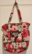 Vera Bradley Fabric Pink/Brown/Black Purse/Tote