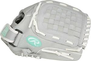 "Rawlings Sure Catch Youth Softball Glove 11.5"" Fastpitch/Slowpitch - Gray / Teal"