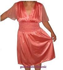 Nachthemd Negligé Nachtkleid Negligee aprikot Übergröße Größe 54 56 54-56 US NEU