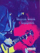 ORIGINAL Vintage Circa 1970s Altec Musical Sound Equipment Catalog