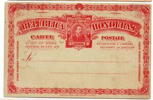 Honduras 1891 3c Postal Card of President Luis Bogran H&G 10