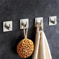 Stainless Steel Self Adhesive Hook Key Rack Bathroom Towel Hanger Wall Mount S