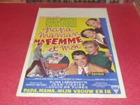 Cinema Plakat Original Belgisches - Mama Papa My Woman & Me Robert Lamoureux