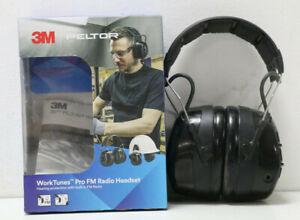 """3M Peltor WorkTunes Pro FM Kapselgehörschutz-Headset 32db Schwarz,Gebraucht !"""""""