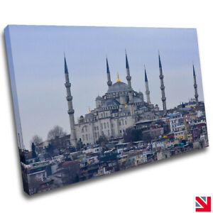 ARCHITECTURE MOSQUE ISLAMIC CANVAS Wall Art Picture Print A4