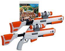 NEW PS3 Cabela's Big Game Hunter 2012 Game w/ 2 GUNS Set Top Shot Elite Rifles