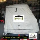Kuveralls HEAVY DUTY 600 Denier, 4 Seat Golf Cart Cover With Storage Bag