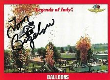 Tom Bigelow signed 1992 LEGENDS OF INDY trading card RACING CART #83 BALLOONS