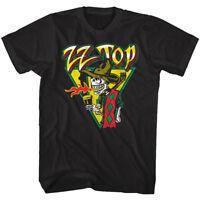 ZZ Top Mescalero Album Cover Men's T Shirt Skeleton Fire Rock Band Concert Tour