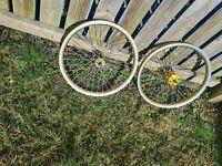 Original gold Araya Old school Bmx Wheels Raleigh burner suntour 84 japan 20inch