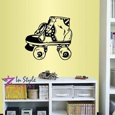 Vinyl Decal Retro Classic Vintage Roller Skates Sports Wall Art Sticker 1301