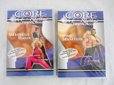 CORE RHYTHMS DANCE EXERCISE PROGRAM - MERENGUE MANIA - SWING SENSATION DVD'S. NE