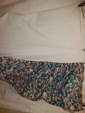 Ralph Lauren Jardin Blue Floral Twin Bed Skirt Dust Ruffle