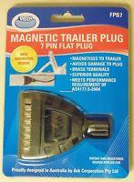 ARK FPB7 Magnetic 7 Pin Flat Trailer Plug for Car Boat Plant Box Trailer Caravan