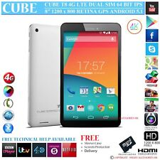 "CUBE T8 4G DUAL SIM 64 BIT QUAD CORE GPS 8"" RETINA 5.1 ANDROID PHONE TABLET PC"
