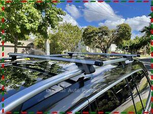 1 Pair Aluminum Cross Bar Roof Rack for Superb wagon 09-21 with raised rail