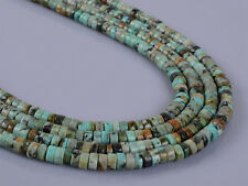 0113   4x2mm African turquoise heishi loose beads 16""