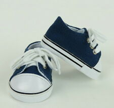 Lovvbugg Navy Blue Sneakers for 18 inch Doll Shoes American Girl or Boy or Baby