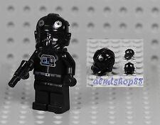 LEGO Star Wars - TIE Fighter Pilot Minifigure w/ Pistol 4479 6206 7146 Black