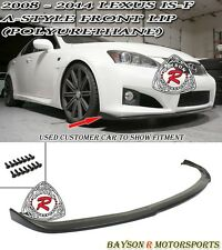 A-Style Front Lip (Urethane) Fits 08-14 Lexus IS-F 4dr Sedan (ISF Bumper Only)