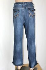 "Vintage DUCK HEAD Women's Size 20W Bootcut Flap Button Stretch Jeans 30"" Inseam"