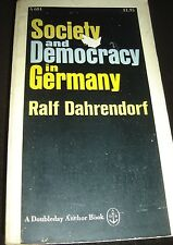 Society And Democracy In Germany By Ralf Dahrendorf 1969 A 684 Anchor Paperback