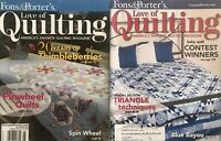For the LOVE of QUILTING magazine lot, (2) 2008 back-issue Jan/Feb, May/June