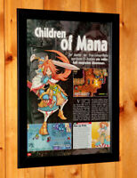 Children of Mana Rare Small Poster / Old Ad Page Framed Nintendo DS Square Enix