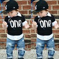 Newborn Infant Baby Boy Girl Summer Cotton Short Sleeve T-shirt Tee Tops Clothes