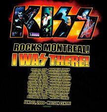 KISS Farewell Tour 2000 Rocks MONTREAL Concert T-Shirt XL UNWORN Simmons Frehley