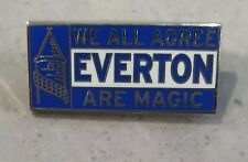 Official Everton FC Pin Badge The Toffees Est 1878 Blue Crest - Great Gift Idea