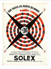 Annonce originale années 50 Carburateur SOLEX ~ mobylette ~ 26x35 cm ~ FRFN119