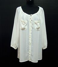 LUISA SPAGNOLI Women's Shirt Viscose Blouse Rayon Woman Shirt Sz. L - 46