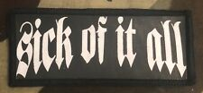 Sick Of It All Printed Patch S050P Blood For Blood Agnostic Front Cro Mags