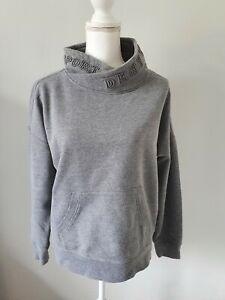 Womens Sweatshirt Size 12/14 Grey DKNY <FF4781