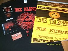 THEE TELEPATHS-NOT GARAGE CD(MF)CASSETTE(DDP)T SHIRT/SIGNED POSTER/BADGES