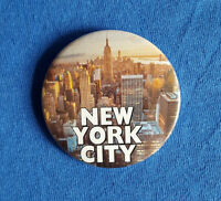 New York City - Top of the Rock - Large Button Badge - 58mm diameter