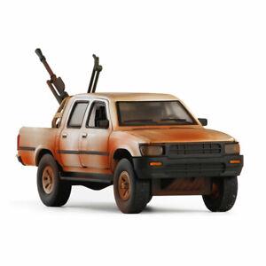 Toyota Hilux Pickup Truck Anti-tank Gun 1:32 Model Diecast Toy Kids Gift Bronze