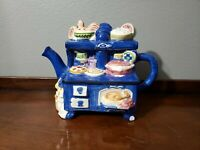 Vintage Decorative Teapot Country Stove with Cat and Chicken