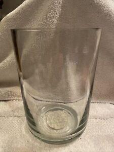 "Pottery Barn Glass Vase 4.25"" W X 6"" T"