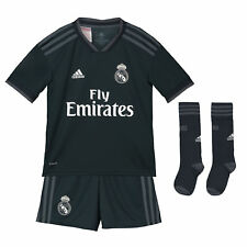 Offiziell Real Madrid Auswärts Kinder Mini Kit Fußball Trikot Shorts adidas