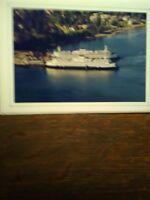 WASHINGTON STATE FERRIES WINSLOW FERRY DOCK BLANK NOTE CARD BAINBRIDGE ISLAND WA