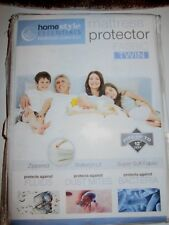 Mattress Protector Encasement Soft Fabric Twin Zippered Waterproof Bed Bug Proof