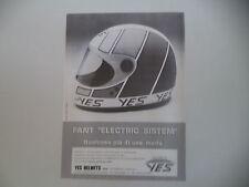 advertising Pubblicità 1982 CASCO HELMETS YES