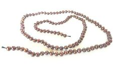 Genuine Chocolate Fresh Water Pearls Loose Strand 27 Inches Long 5.5 MM