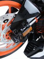 R&G Racing Fork Protectors for the KTM RC 390 2014-2018 FP0106BK BLACK