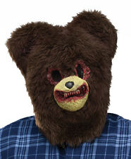Terror Zombie Ted Asesino Bear Mask Peludo Halloween Bungle Disfraz Nuevo