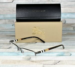 BURBERRY BE1282 1008 Brushed Gunmetal Demo Lens 55 mm Men's Eyeglasses