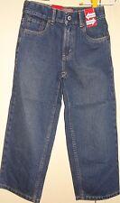 Boys Levis Strauss Jeans Size 7 Dark Blue Denim Adjustable Waistband New NWT